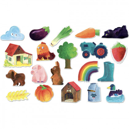 Vilac Wooden countryside magnets