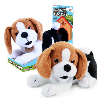 the plush buddy dog Bobík interactive