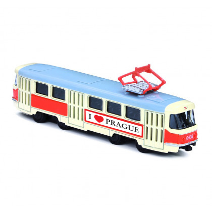 the metal tram, 16 cm PRAGUE