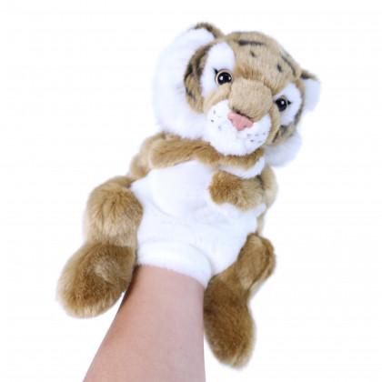 the plush hand puppet tiger, 28 cm