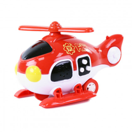 Copter firefighters with sound and light