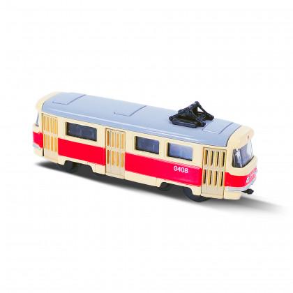 the retro metal mini tram, 8,5 cm