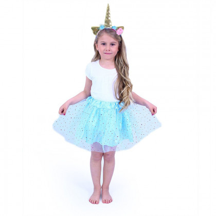 the Blue tutu skirt with headband