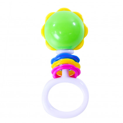 the Rattle ball with shapes and handle