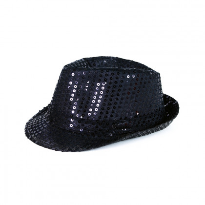 the black disco hat with LED