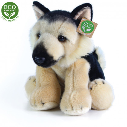 German shepherd plush dog sitting, 30 cm