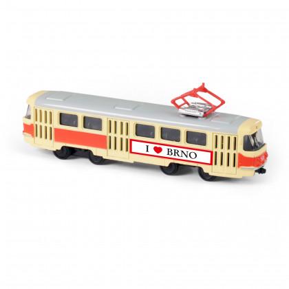 Metal Czech retro tram, 16 cm BRNO