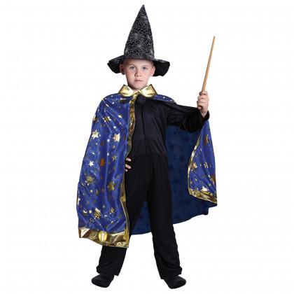 the magic blue cloak with stars
