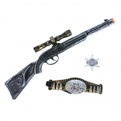 the cowboy rifle on a blister package