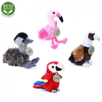 Plush birds sitting / standing 15 cm