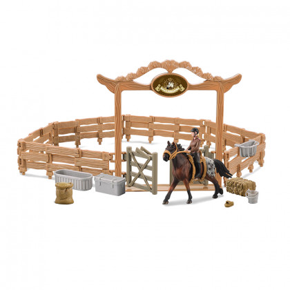 Fence for horses with accessories