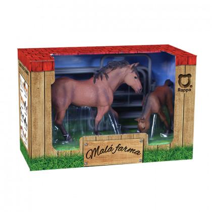 Horse set 2 pcs with fence