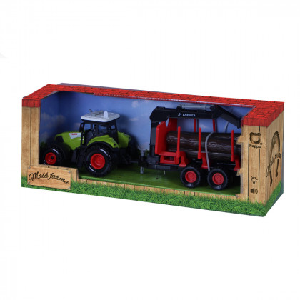 Plastic tractor with siding