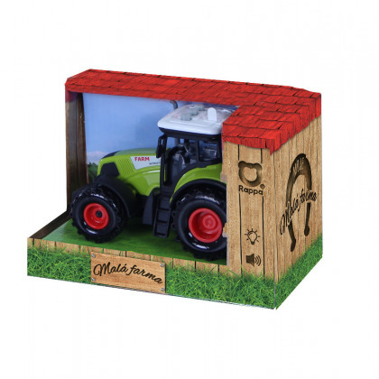 Plastic tractor with sound and light