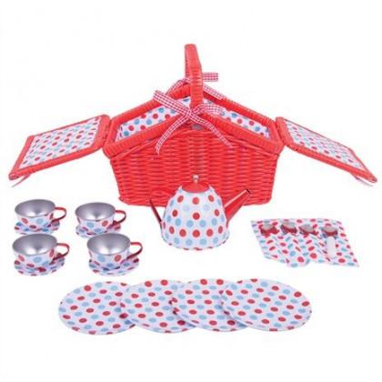 Bigjigs Toys Wooden - Picnic Tea set