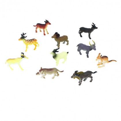 the wild animals, 10 pcs in a package