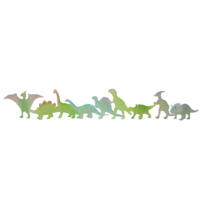 the dinosaurs, glowing in the dark, 9pcs