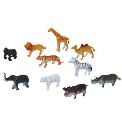 the wild animals, 10 pieces in a package