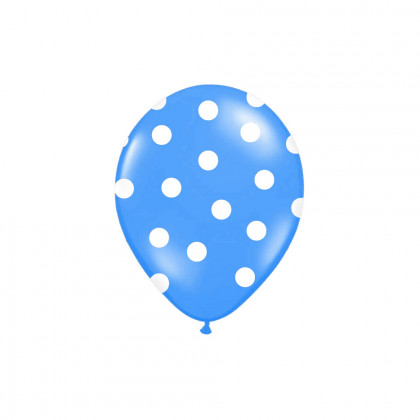 inflatable balloon 30cm with blue print