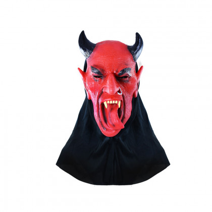the devil mask with tongue