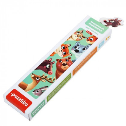 Forest animals - puzzle of 16 parts