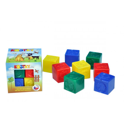 the plastic cubes