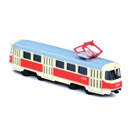 metal czech retro tram, 16 cm