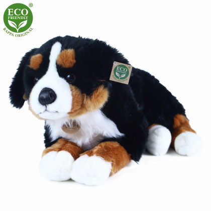the big lying plush bernese dog, 61 cm