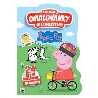 the shaped coloring book Peppa Pig