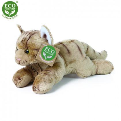 the plush cat lying brown 18 cm