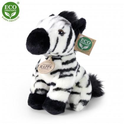 plyšová zebra sedící, 18 cm