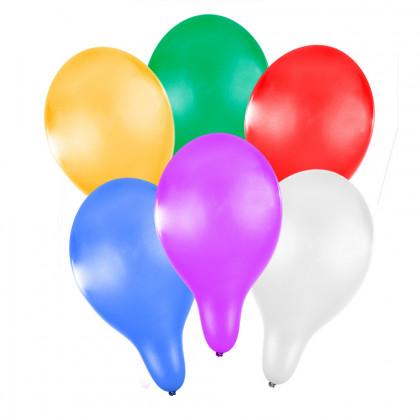 the inflatab. balloon 27cm metallic 6pcs