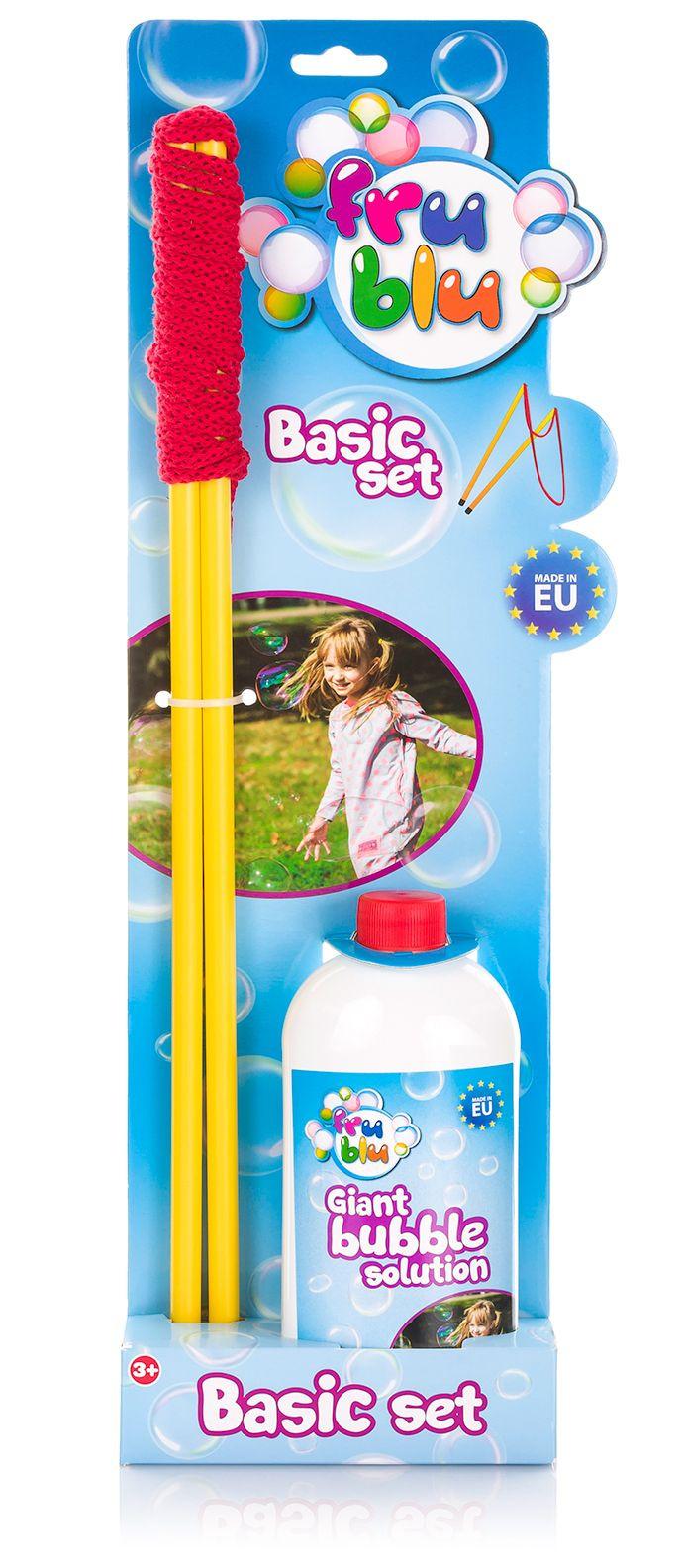 bubble blower FRU BLU cord + refill 0,5L