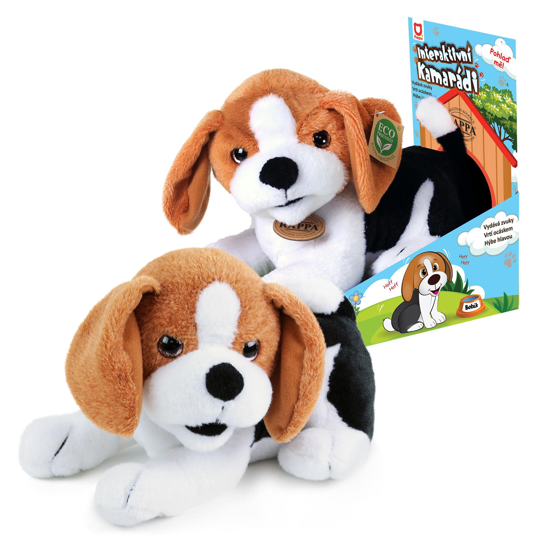 the plush buddy dog Bobík interactive