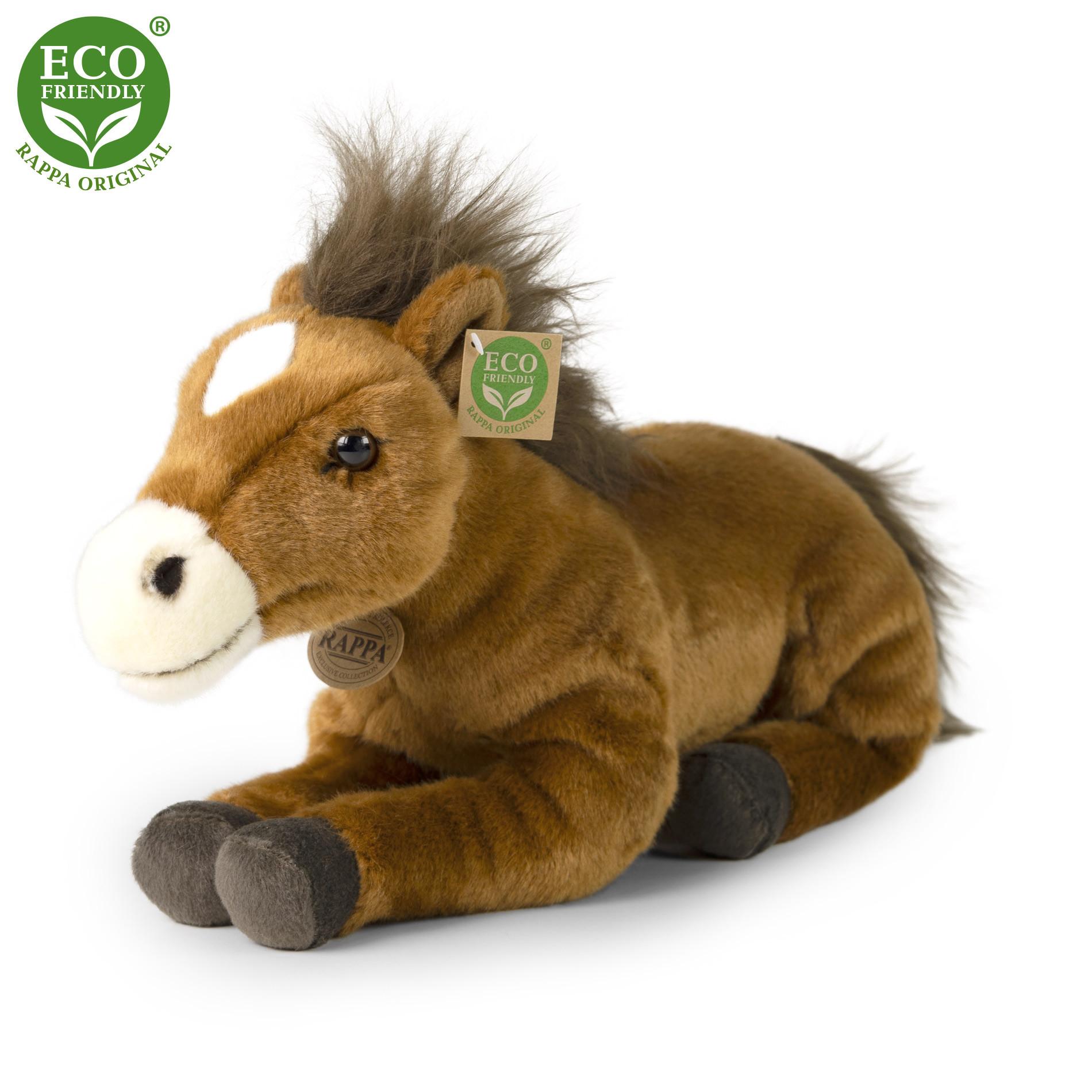 the plush horse lying, 35 cm
