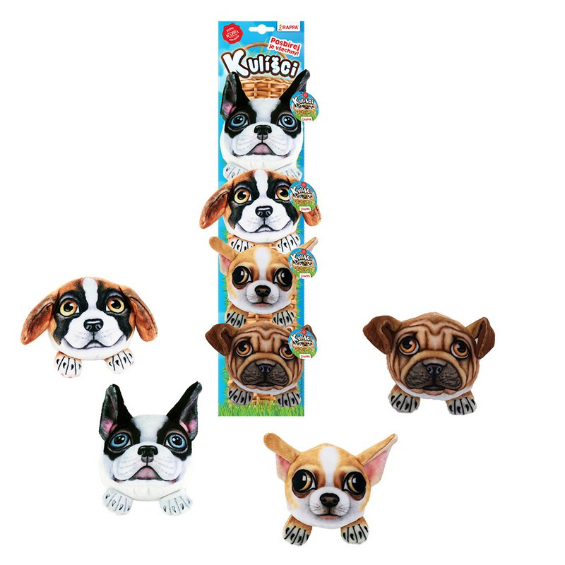 the cuddly pets - plush dogs, 9 cm