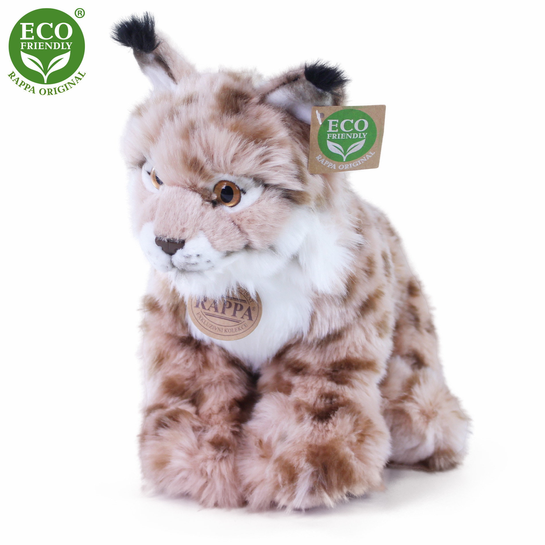 the plush lynx sitting, 27 cm