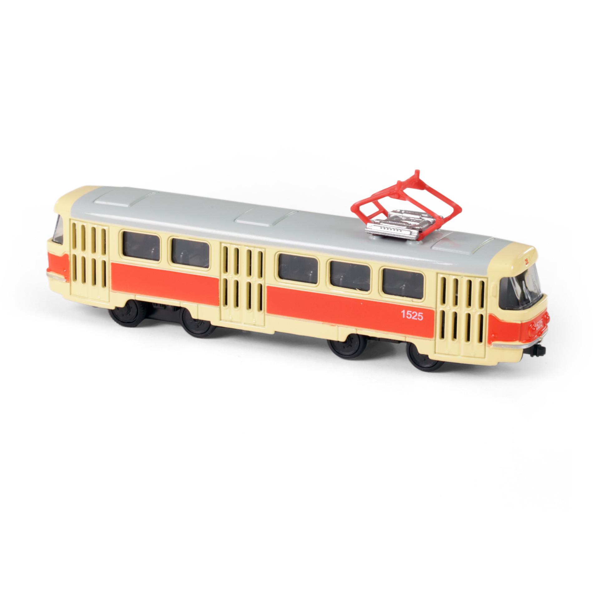metal czech retro tram, 16 cm