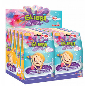 the Glibbi Glitter Purple Glitter Slime