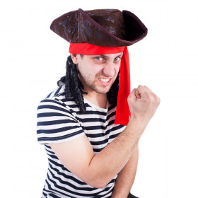 the pirate hat with hair, adult