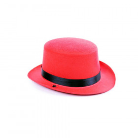 the mini bowler hat, red