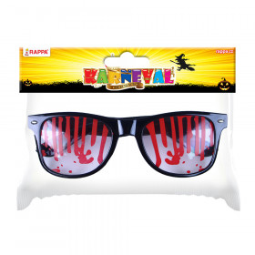 the Halloween glasses with blood
