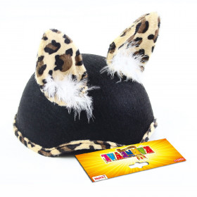 the cat hat with feathers felt for child