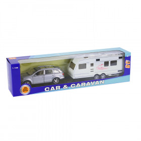 the Metal car with trailer 2 kinds