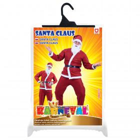 the Santa Claus costume (no beard)