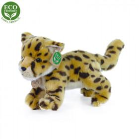 the plush cheetah cub standing, 22 cm
