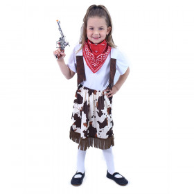 Children cowgirl costume with scarf (S)