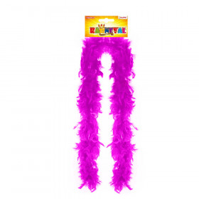 Boa pink with feathers 180 cm