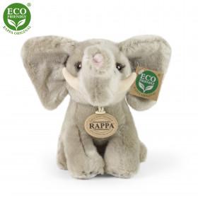 Plush elephant sitting 18 cm