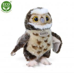 Plush owl standing 25 cm